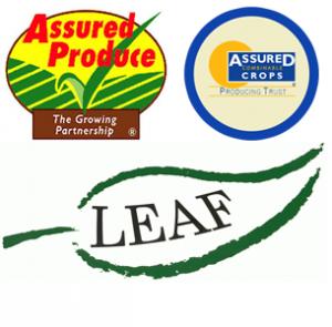 Assured Produce Logo, Assured Crops Logo, Leaf UK Logo